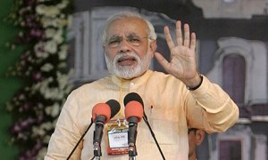 Narendra Modi launch opposition party's campaign with rally