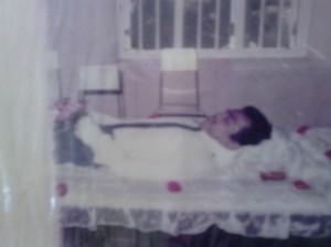 Kumara Lal Manawadu's body.